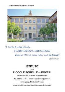 La Casa dei Cento Vecchi Firenze - Offerte Donazioni o Lasciti PSdP Piccole Sorelle dei Poveri